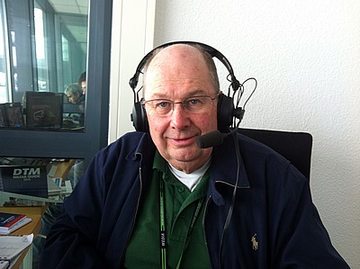 Andrew Marriott in commentary booth